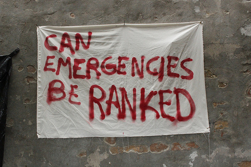 Can Emergencies be Ranked?